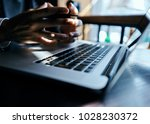 laptop  hands  technology      ... | Shutterstock . vector #1028230372