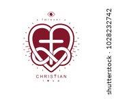 true infinite christian love... | Shutterstock .eps vector #1028232742