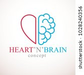 heart and brain concept ... | Shutterstock .eps vector #1028240356
