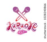 karaoke party lettering  rap... | Shutterstock .eps vector #1028240866