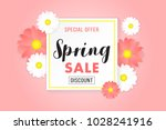 Stock vector promotion background poster banner spring sale 1028241916