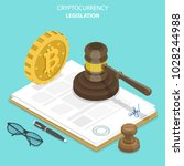cryptocurrency legislation flat ... | Shutterstock .eps vector #1028244988