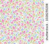 seamless pattern with bushy... | Shutterstock .eps vector #1028250208