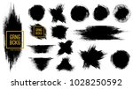 set of black ink vector stains  | Shutterstock .eps vector #1028250592