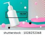 vector 3d realistic corner wall ... | Shutterstock .eps vector #1028252368