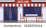 modern city facade of cafe... | Shutterstock .eps vector #1028255416