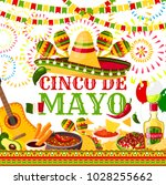 cinco de mayo greeting card for ... | Shutterstock .eps vector #1028255662