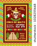 cinco de mayo mexican party... | Shutterstock .eps vector #1028255668