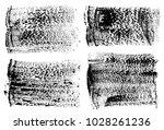 set of black ink vector stains | Shutterstock .eps vector #1028261236