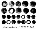 set of black ink vector stains | Shutterstock .eps vector #1028261242