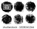 set of black ink vector stains | Shutterstock .eps vector #1028261266