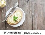 butter and bread for breakfast  ... | Shutterstock . vector #1028266372