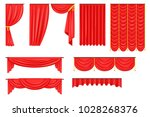 different types of theatrical... | Shutterstock .eps vector #1028268376
