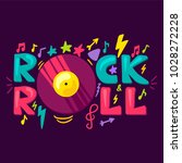 rock and roll concept with... | Shutterstock .eps vector #1028272228