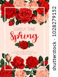 lovely time spring vector... | Shutterstock .eps vector #1028279152