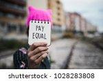closeup of a young woman... | Shutterstock . vector #1028283808