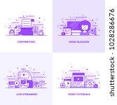 modern flat purple color line... | Shutterstock .eps vector #1028286676