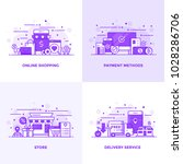 modern flat purple color line... | Shutterstock .eps vector #1028286706