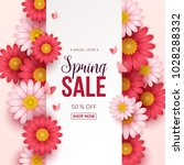 spring sale background with... | Shutterstock .eps vector #1028288332
