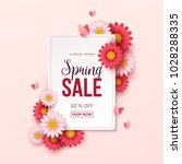 Stock vector spring sale background with beautiful flowers 1028288335