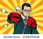 man in boxing gloves...   Shutterstock . vector #1028290636