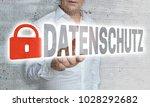 datenschutz  in german privacy...   Shutterstock . vector #1028292682