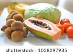fresh fruits and vegetable... | Shutterstock . vector #1028297935
