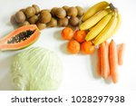 fresh fruits and vegetable... | Shutterstock . vector #1028297938
