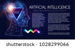 artificial intelligence. human... | Shutterstock .eps vector #1028299066