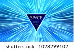 abstract futuristic perspective ... | Shutterstock .eps vector #1028299102