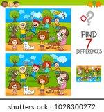 cartoon illustration of finding ... | Shutterstock .eps vector #1028300272