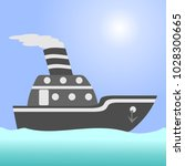 ship. argo ship in the open... | Shutterstock . vector #1028300665