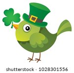 st patricks day theme with bird ... | Shutterstock .eps vector #1028301556