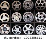 alloy wheels. old alloy wheels... | Shutterstock . vector #1028306812
