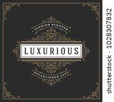 ornament logo design template... | Shutterstock .eps vector #1028307832