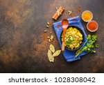 biryani rice  traditional... | Shutterstock . vector #1028308042