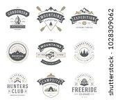 camping logos templates vector... | Shutterstock .eps vector #1028309062