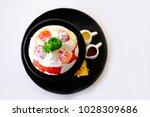 cold korean ice cream put...   Shutterstock . vector #1028309686