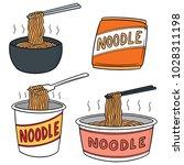 vector set of noodle | Shutterstock .eps vector #1028311198