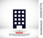 vector building icon | Shutterstock .eps vector #1028315776