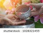 songkran thai festival concept  ... | Shutterstock . vector #1028321455
