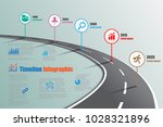 business road signs map... | Shutterstock .eps vector #1028321896