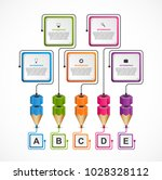 infographics template with... | Shutterstock .eps vector #1028328112
