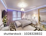 modern interior of a bedroom in ...   Shutterstock . vector #1028328832