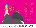 benefits of running infographics | Shutterstock .eps vector #1028331472
