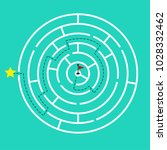 circular maze with way from... | Shutterstock .eps vector #1028332462
