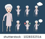 older woman character. aged... | Shutterstock .eps vector #1028332516