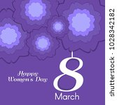 women's day greeting card with... | Shutterstock .eps vector #1028342182