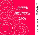 mother's day greeting card with ... | Shutterstock .eps vector #1028344426