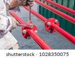 install fire sprinkler system.... | Shutterstock . vector #1028350075